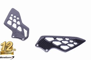 BMW S1000RR 2009 - 2016  100% Carbon Fiber Heel Guards, OEM Style, Twill Weave