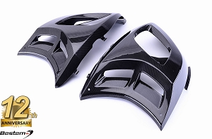 Can-Am Spyder RS 100% Carbon Fiber Body Side Fairings, Twill Weave,