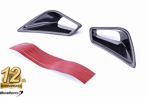 Ducati 848 1098 1198 100% Carbon Fiber Tail Cowl Air Vent Covers