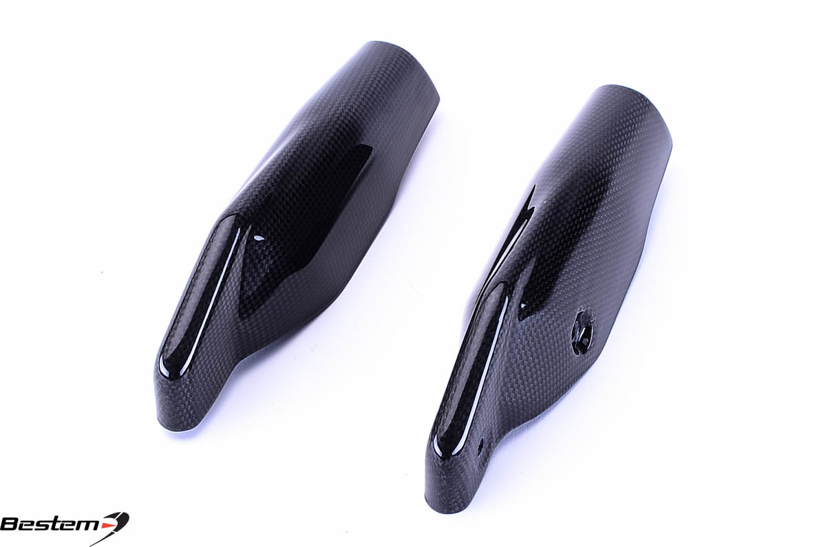 ducati hypermotard 796 1100 100 carbon fiber fork covers. Black Bedroom Furniture Sets. Home Design Ideas