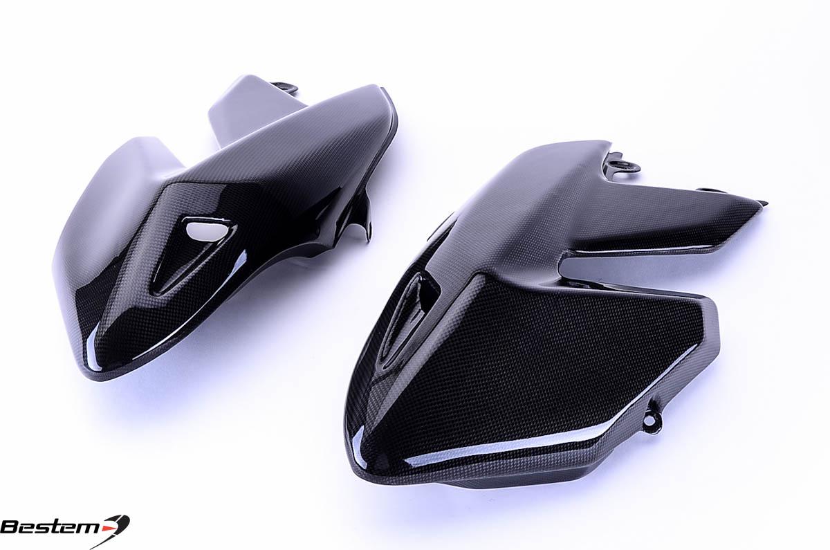 ducati hypermotard 796 1100 100 carbon fiber side panels. Black Bedroom Furniture Sets. Home Design Ideas