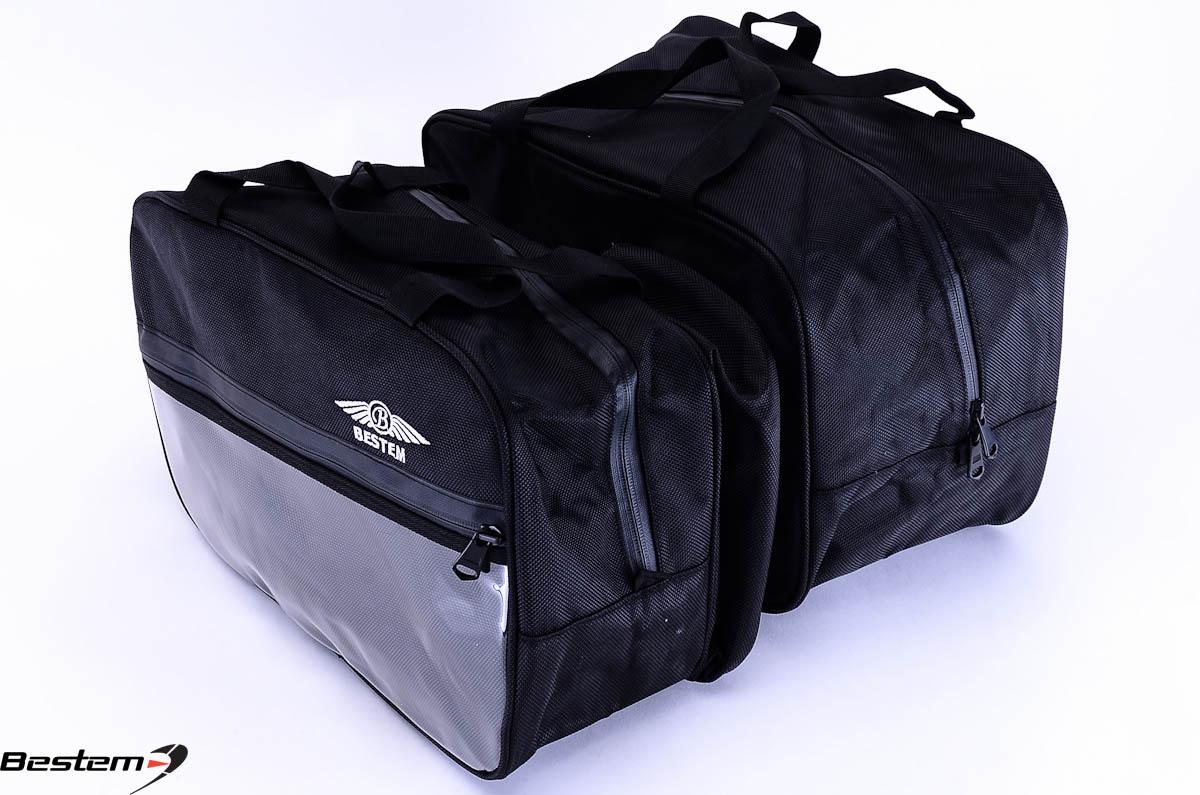 Can am spyder rt saddlebag sideliners side case trunk liners bags black