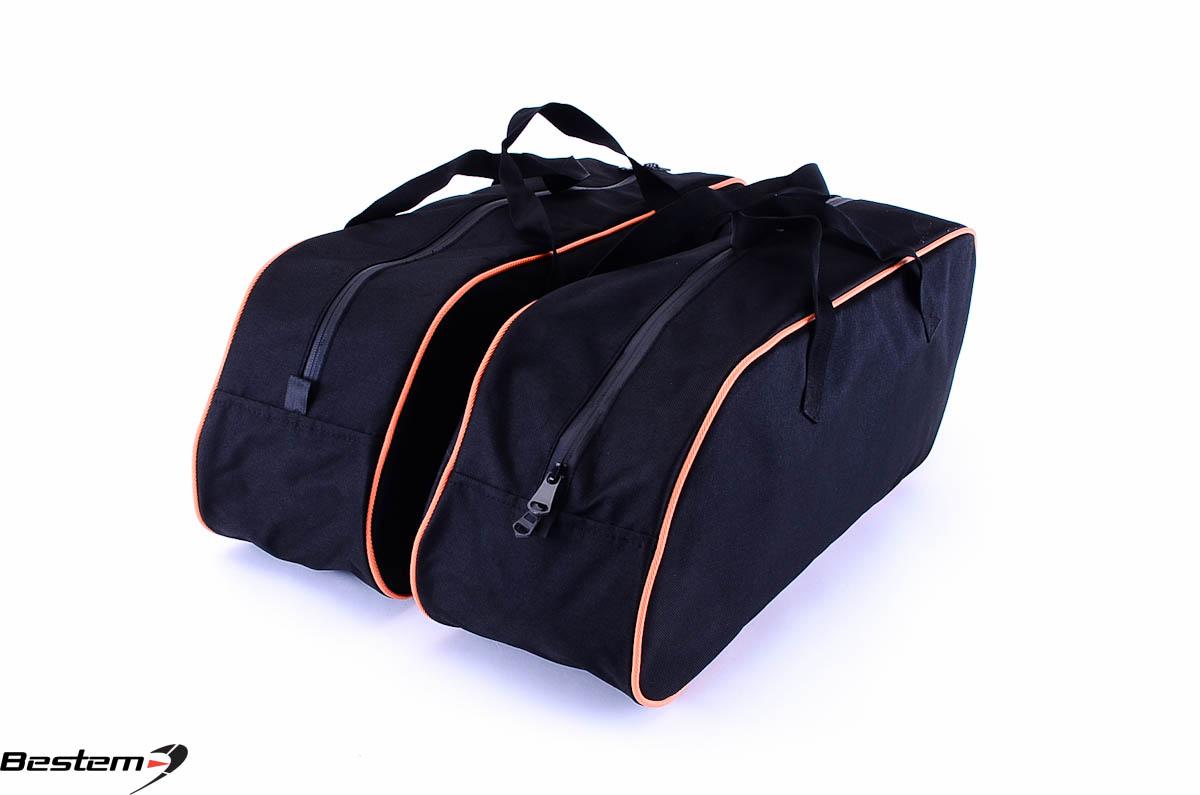 King saddlebag sideliners side case trunk liners bags custom black