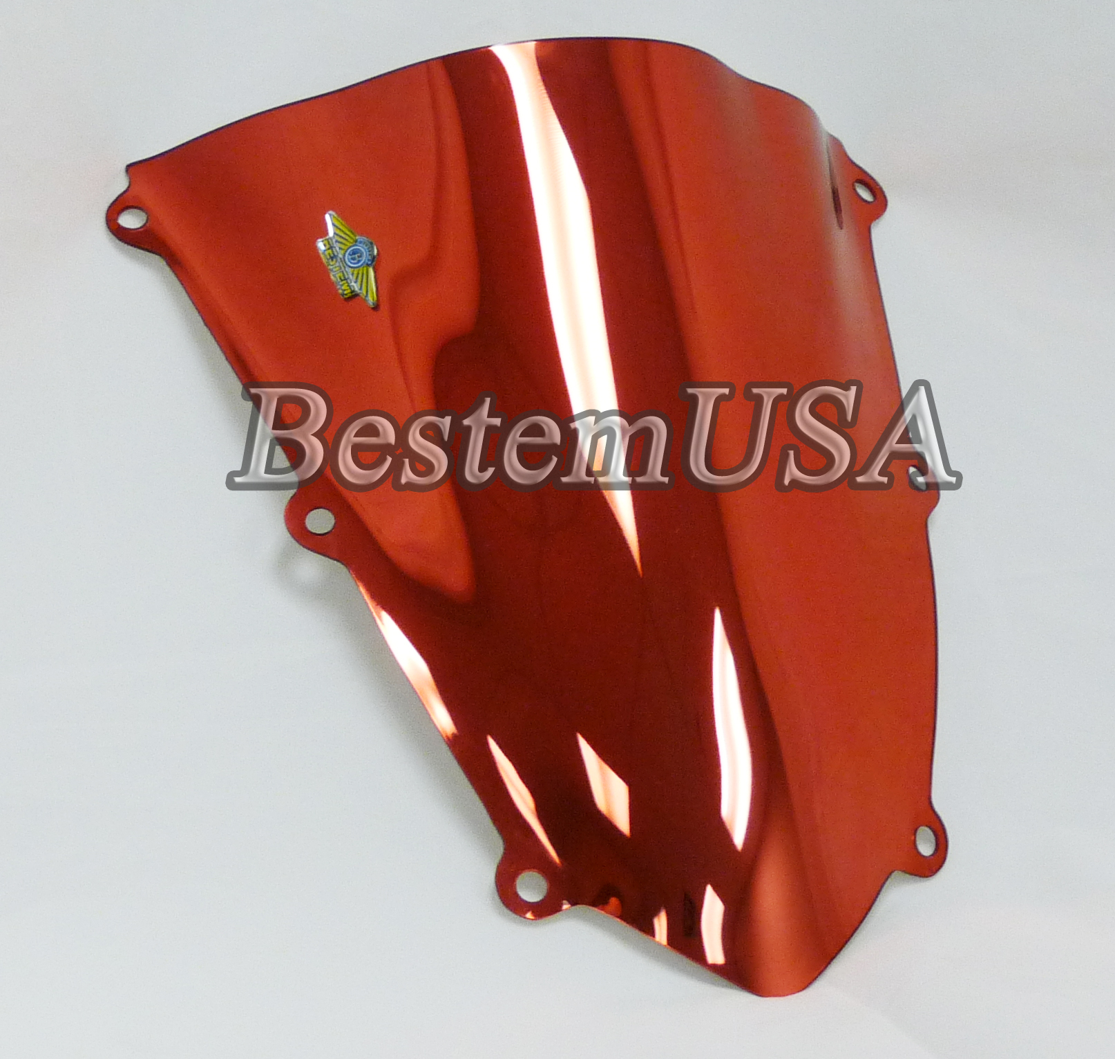 Honda CBR600RR 07-08 Chrome Red Windshield