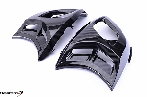 Can-Am Spyder RS Carbon Fiber Body Side Fairings, Twill Weave, 100%