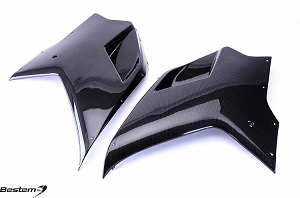 Ducati 848 1098 1198 Carbon Fiber Side Fairings, Pair, 100%