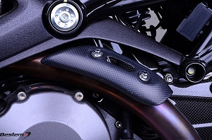 Ducati Monster 696 796 1100 Carbon Exhaust Collector Cover, Matte Finish