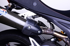 Ducati Monster 696 1100 Carbon Fiber Rear Exhaust Cover, Matte Finish