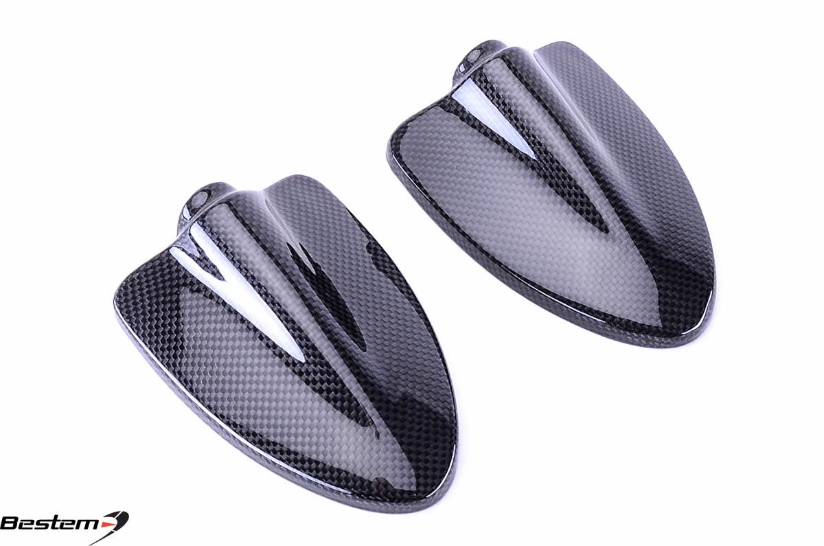 ducati hypermotard 796 1100 100 carbon fiber mirror covers. Black Bedroom Furniture Sets. Home Design Ideas