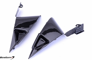 Honda CBR600RR 2007 - 2012 Carbon Fiber Side Panels Triangle Inserts