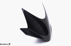 Triumph 2011 - 2012 Speed Triple R & Street Triple Carbon Fiber Windscreen/Flyscreen with OEM Plastic Back Plate of 4 Mounting Holes (fits with the Robot Eye-Shaped Headlights only)