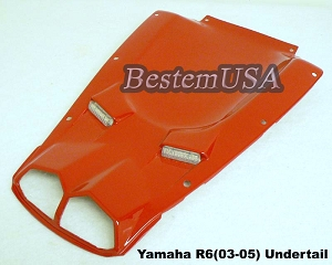 Yamaha R6 03-05 Undertail Red F46