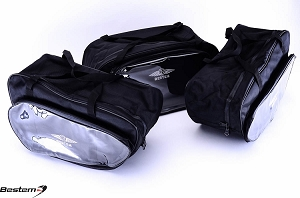 BMW K1200LT Saddlebags Sideliners Side Case Liners and Topliner Top Box Case Trunk Liner Set, 3PCS, Not CD Version
