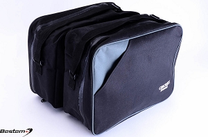 Kawasaki Concours ZG1000 Saddlebag Sideliners Side Case Trunk Liners Bags, Black