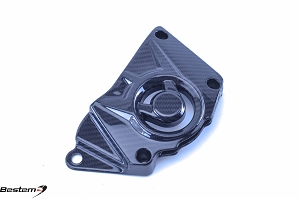 BMW S1000RR HP4 100% Carbon Fiber Sprocket Cover, Twill Weave