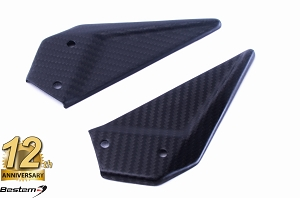 EBR 1190 RX SX 100% Carbon Fiber Heel Guards, Twill, , Press Molded, Matte Finish