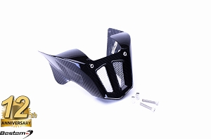 Ducati Monster 696 796 1100 Evo 100% Carbon Fiber Belly Pan/Lower Spoiler Kit, Twill