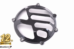 Ducati Press Mold 100% Carbon Fiber Dry Clutch Cover, Open Style 6
