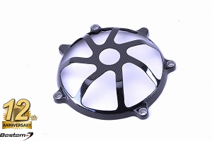 Ducati Press Mold 100% Carbon Fiber Dry Clutch Cover, Open Style 7