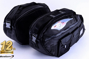 Kawasaki Vulcan Nomad/ Vaquero Saddlebag Sideliners Side Case Trunk Liners Bags, Deluxe, Black