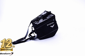 Suzuki Burgman Hump Bag/Tank bag, Black With White Logo