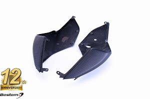 Ducati 1199 Panigale 100% Carbon Fiber Seat Side Panels, Matte Finish