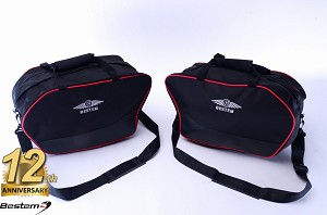 Ducati Multistrada 1200 2010 - 2014 Saddlebag Liners Sideliners with Red Piping