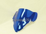 Suzuki GSXR1300 Hayabusa 99-07 Chrome Blue Windshield #S13B