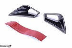 Ducati 848 1098 1198 Carbon Fiber Tail Cowl Air Vent Covers