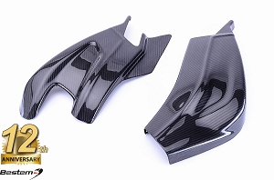 BMW S1000RR 2009 - 2018 100% Carbon Fiber Swingarm Cover, Twill Weave