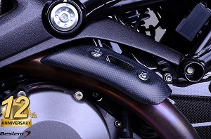 Ducati Monster 696 796 1100 100% Carbon Exhaust Collector Cover, Matte Finish