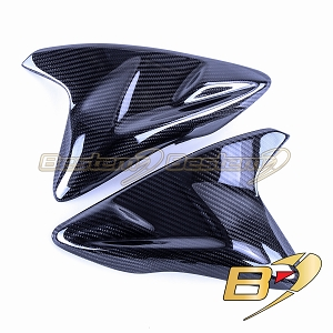 2011-2018 GSX-R 600 750 Carbon Fiber Gas Tank Side Trim Cover Panels Twill Weave
