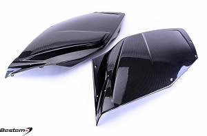 BMW K1200S 100% Carbon Fiber Side Fairings, Twill Weave