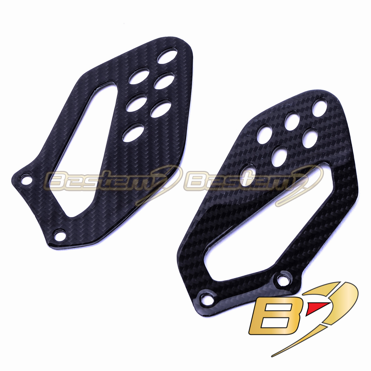 Bmw S1000rr Hp4 2009 2018 100 Carbon Fiber Heel Guards 12 14 Oem Style Twill Weave