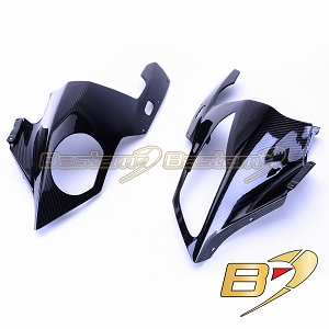 BMW S1000RR 2009 - 2014 100% Carbon Fiber Head Cowl Covers 2Ppcs Twill Weave