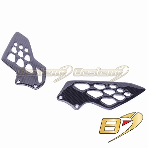 BMW S1000RR 2009 - 2018  100% Carbon Fiber Heel Guards, 09-11 OEM Style , Twill Weave
