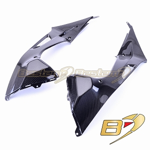 BMW S1000RR 2009 - 2014 100% Carbon Fiber Tank Side Panels, Twill Weave