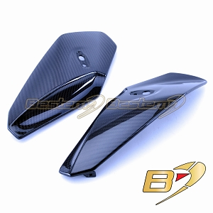 BMW S1000R 2014 - 2018  100% Carbon Fiber Side Headlight Headlamp Cover Panel Fairing Set, Twill