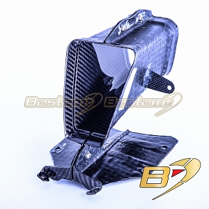 2020+ BMW S1000RR Carbon Fiber Air Intake Tube, Twill Weave Pattern