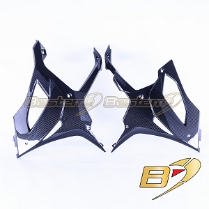 2020+ BMW S1000RR  Carbon Fiber Belly Pan, Twill Weave Pattern
