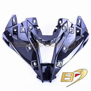 2020+ BMW S1000RR  Carbon Fiber Head/Nose Cowl, Twill Weave Pattern