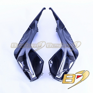 2020+ BMW S1000RR  Carbon Fiber Tank Side Panels, Twill Weave Pattern