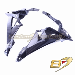 BMW S1000R 2014 - 2016 100% Carbon Fiber Upper Side Panel Fairings, Twill