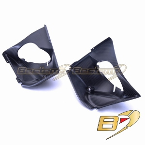 EBR 1190 RX SX  100% Carbon Fiber Radiator Outlet Ducts Left+Right Side, Twill Weave Pattern, Matte Finish