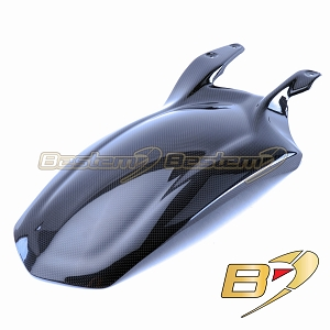 Ducati 848 1098 1198 100% Carbon Fiber Rear Tire Fender / Hugger Long Version