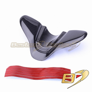 Ducati 848 1098 1198 100% Carbon Fiber Keychain Guard, Large