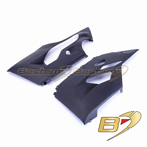 Ducati 1199 1299 Panigale 100% Carbon Fiber Belly Pans (L+R), Matte Finish