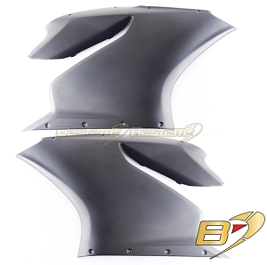 Ducati 1199 Panigale Fiber Side Fairings, Matte Finish