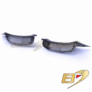 Ducati Diavel 2011 - 2014 Air Ram Intake Inlet Fairing Covers W/ Grilles 100% Carbon Fiber