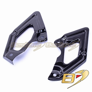 Ducati Hypermotard 796 1100 100% Carbon Fiber Heel Guards